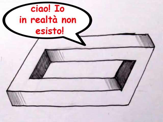Illusioni ottiche | Come disegnare un rettangolo impossibile
