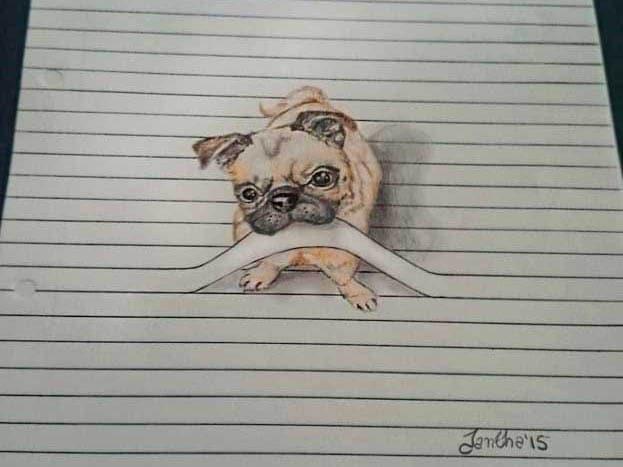 Disegni di animali da guardare tra le righe focus junior for Disegni a matita di cani