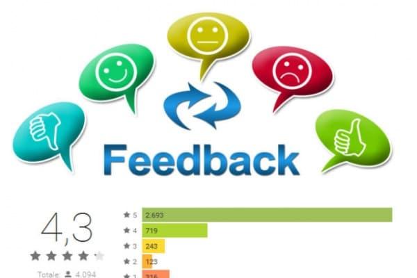 Internet e APP | che cos'è un FEEDBACK? come funzionano le recensioni nei siti?