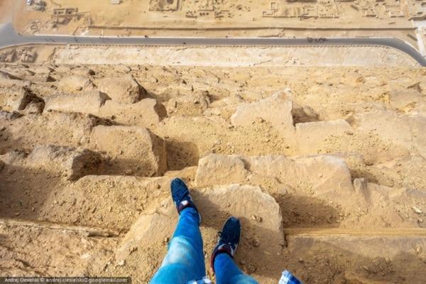 Scala la Piramide di Cheope | L'impresa di Andrej Ciesielski