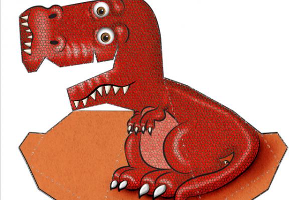 Può un T-rex di cartone seguirti con lo sguardo?
