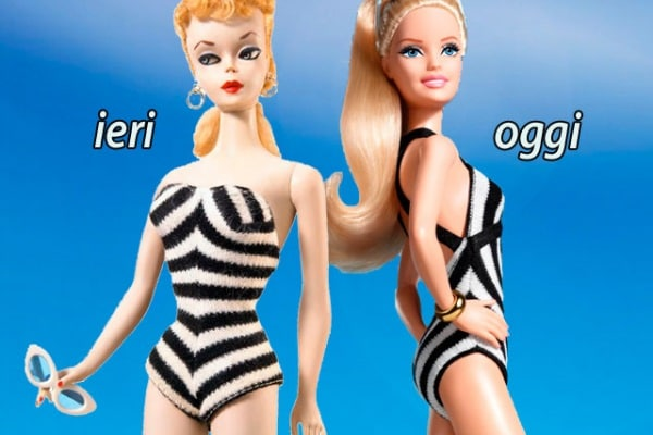 Guarda com'è cambiata la Barbie in 56 anni