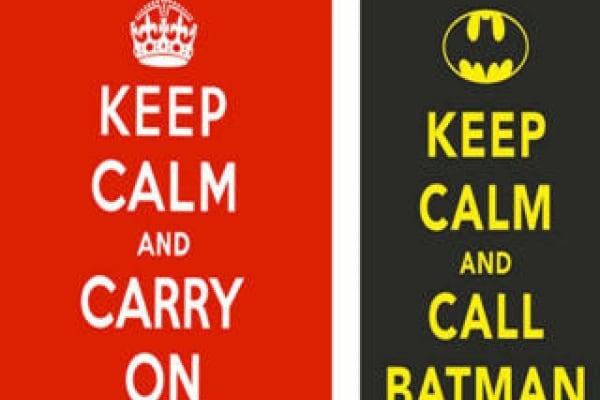 "Perchè va di moda la scritta ""keep calm"" ??"