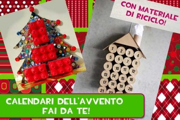 Lavoretti Natale | Idee per calendari fai da te con materiale di riciclo