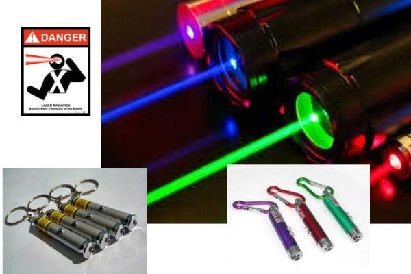 Sono pericolosi i Puntatori Laser tascabili ?