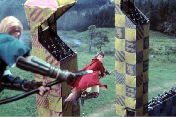 Partita di Quidditch in volo, come in Harry Potter