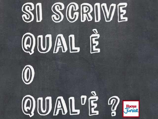 Grammatica | Si dice qual è o qual'è ?