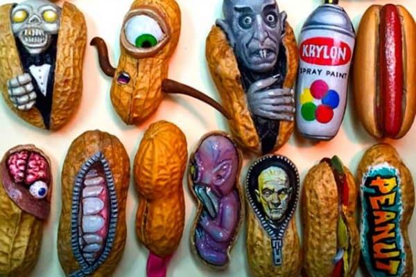 Micro sculture in una nocciolina: l'arte di Steve Casino