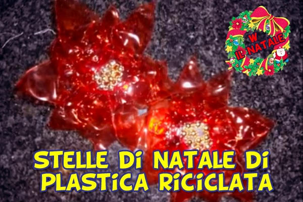 Stella di natale fai da te con il riciclo di una bottiglia di plastica | Video