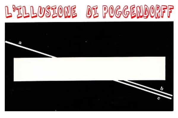Illusioni ottiche: l'illusione di Poggendorff