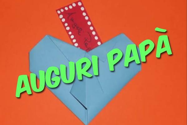 Festa Del Papà Un Biglietto Dauguri Fai Da Te Video Focus Junior