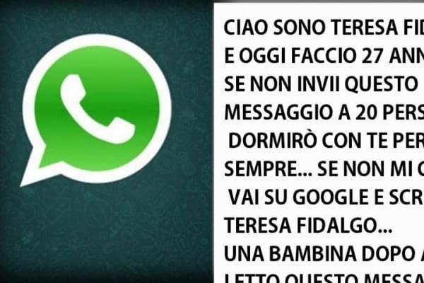 Web e leggende urbane | Teresa Fidalgo mi minaccia su Whatsapp, che faccio?