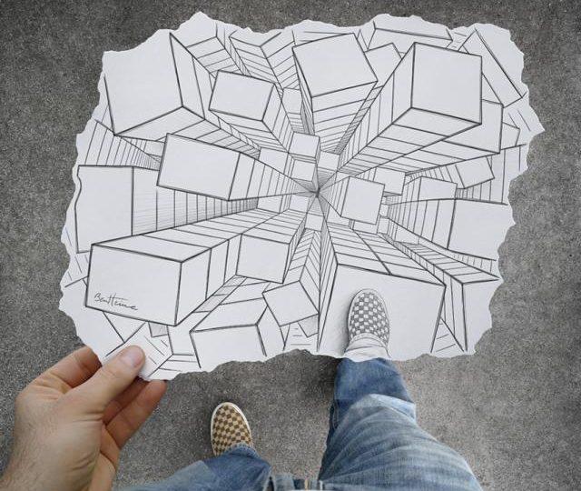Illusioni ottiche: i foto-disegni di Ben Heine