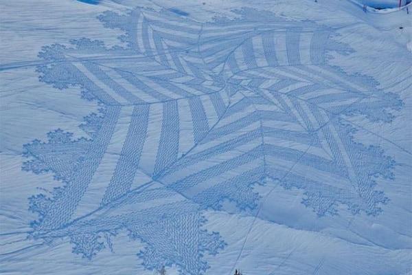 Disegni sulla neve