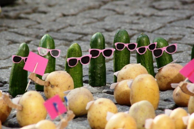 Patate e cetrioli a spasso per la città!