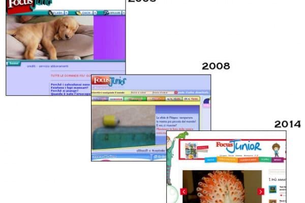 Com' era una volta il sito di Focus Junior?