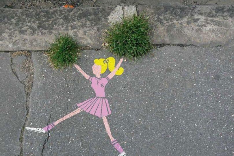 15 foto di street art che interagiscono in modo fantastico con la natura e l'ambiente circostante