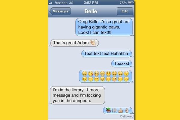 Gli SMS che si scambiano le principesse Disney!