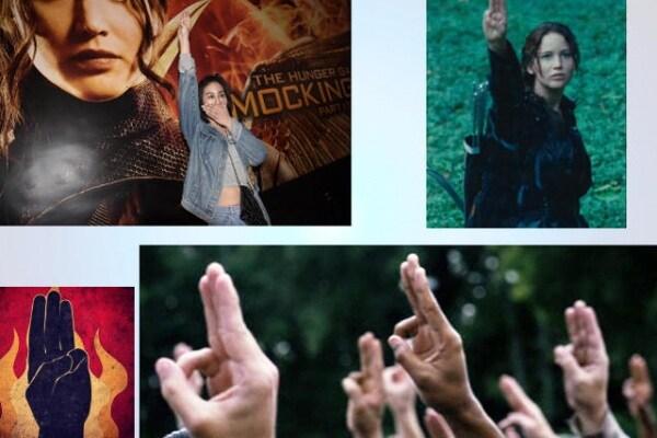 La Tailandia vuole proibire il saluto di Hunger games!