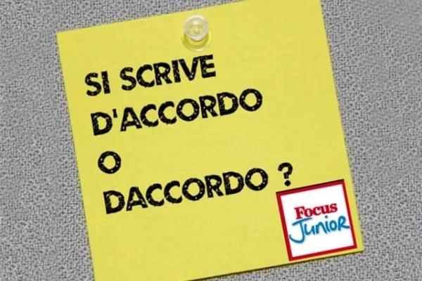 D'accordo o daccordo? Correggiamo gli errori più comuni in italiano
