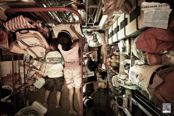 Le case più piccole del mondo ad Hong Kong