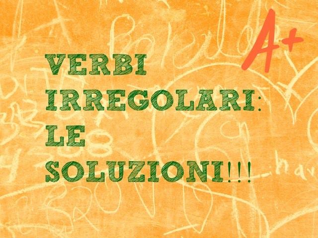 Verbi irregolari italiani difficili: le soluzioni del test!
