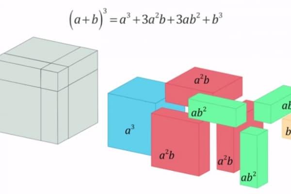 Il video che ci fa capire come funziona il cubo di un binomio!
