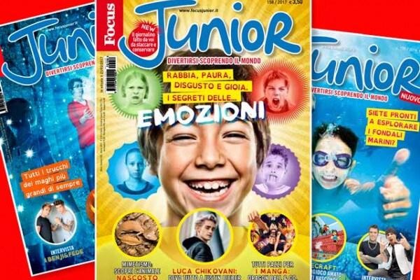 Copertine di Focus Junior: quale ti piace di più?