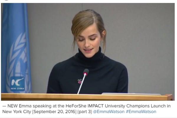Il discorso di Emma Watson per la sicurezza delle donne