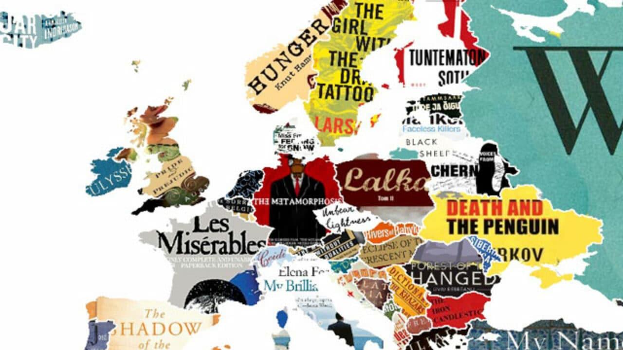 Cartina Mondo Ingrandita.Geografia La Mappa Del Mondo Fatta Con I Libri Famosi Focus Junior