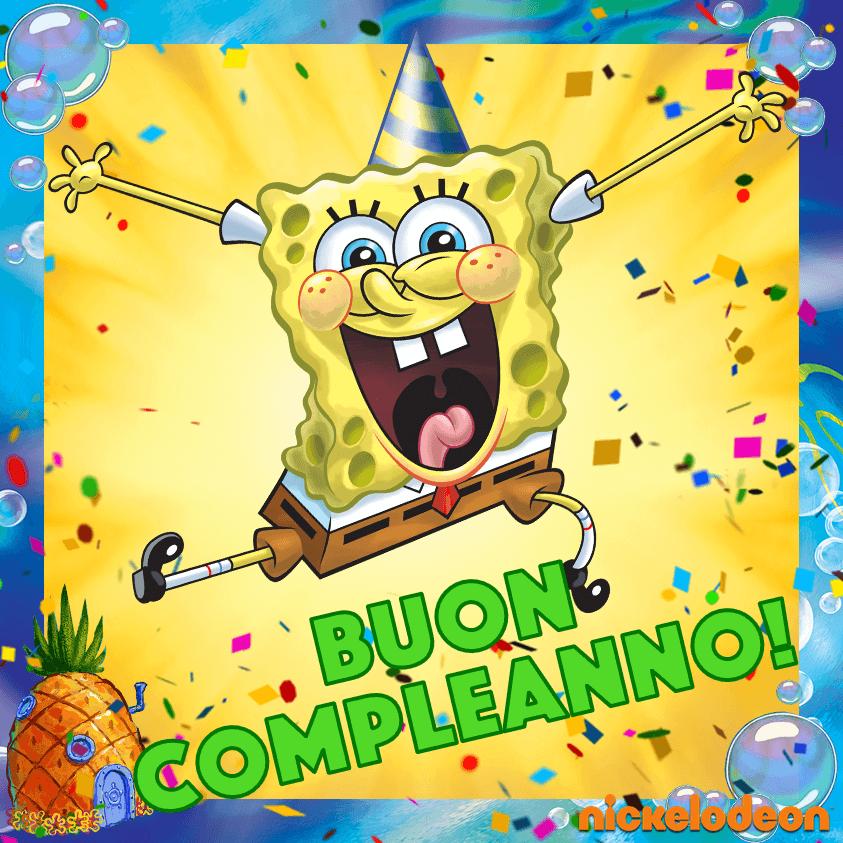 Auguri SpongeBob per i tuoi 30 anni!