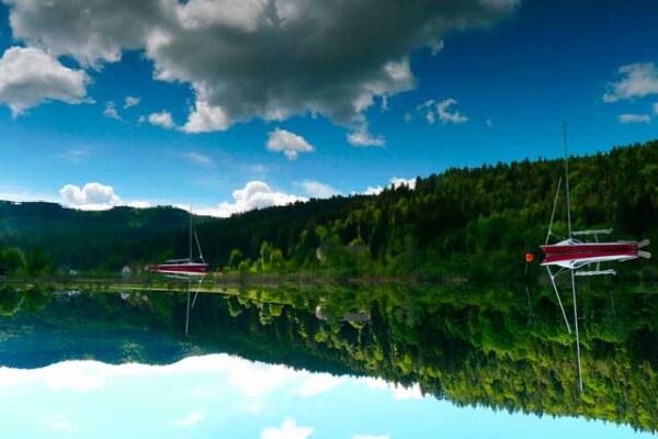 Riflessi nell'acqua: quale foto è dritta e quale capovolta?