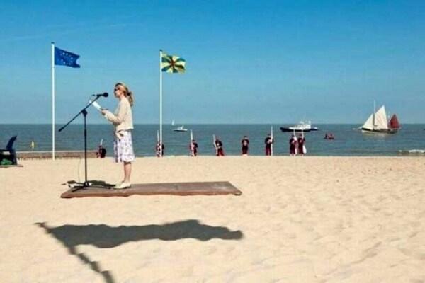 Illusioni ottiche | Il tappeto vola sulla spiaggia
