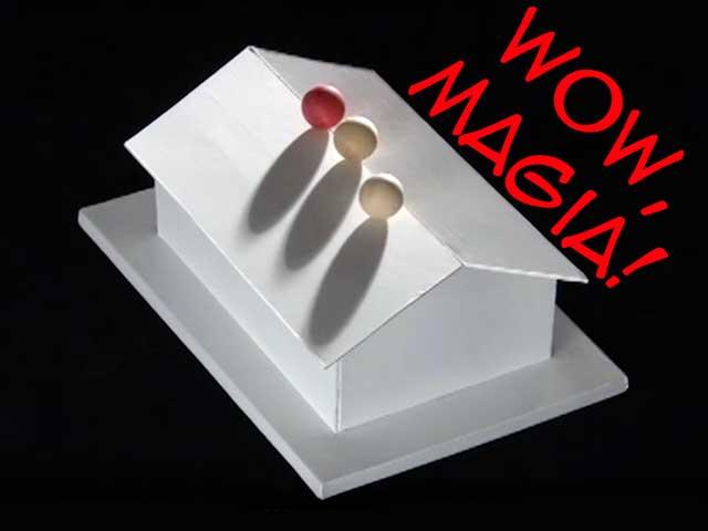 Illusioni ottiche | Le palline che non cadono mai dal tetto