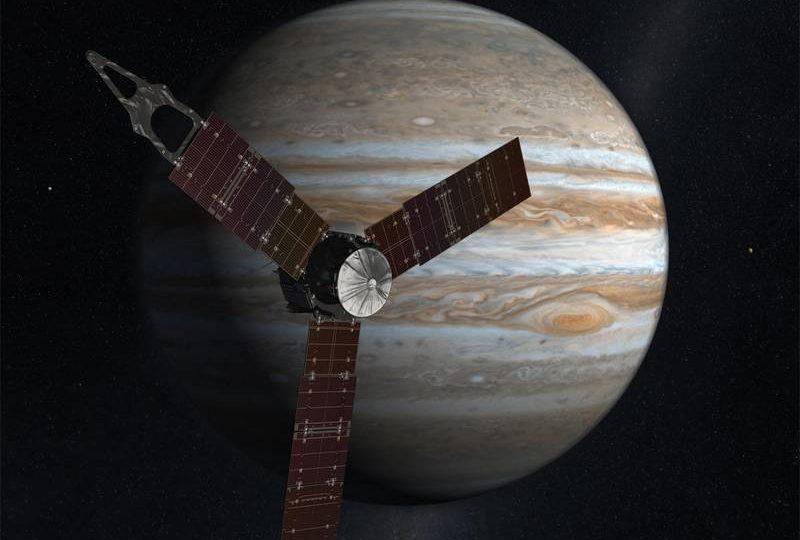 È fatta: la sonda Juno è entrata nell'orbita di Giove!
