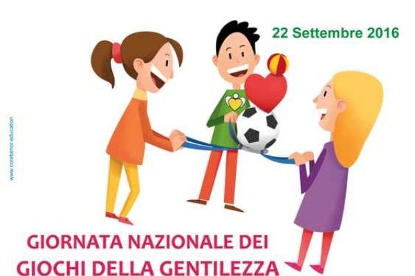 La Giornata Nazionale dei Giochi della Gentilezza si festeggia il 22 settembre!