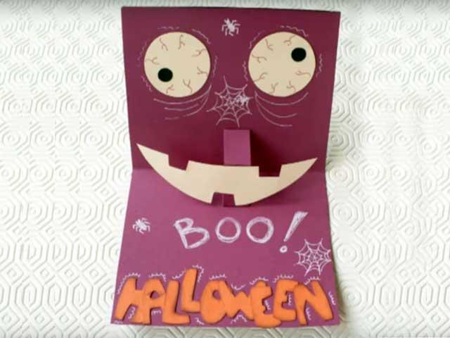 Lavoretti di Halloween | Il biglietto d'invito fai da te | Video