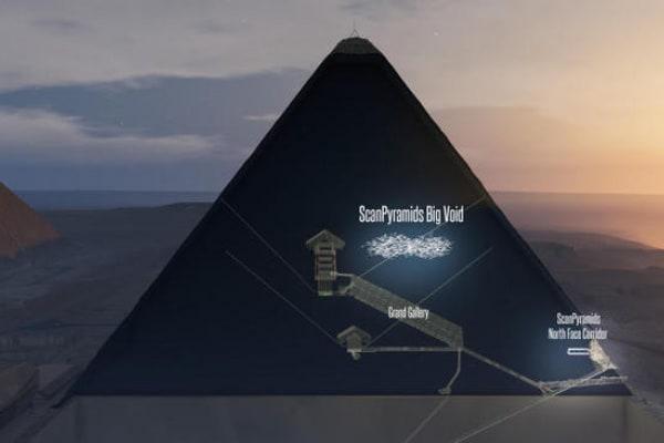 Scoperta una cavità segreta nella piramide di Cheope!
