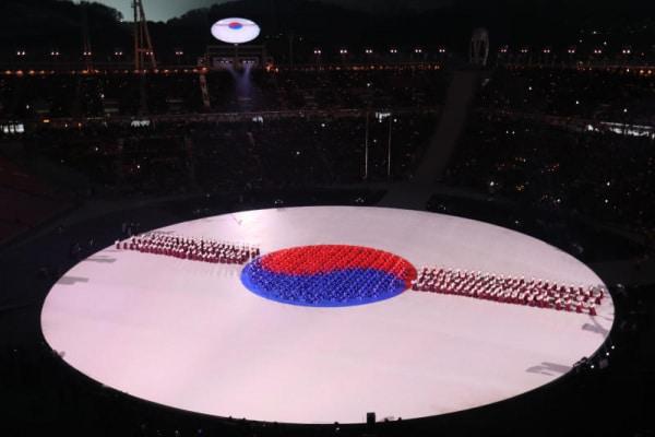 La cerimonia di apertura delle Olimpiadi invernali 2018 e i droni volanti