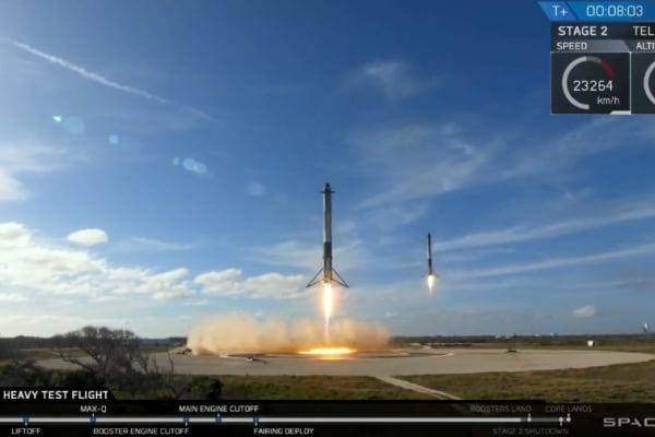 Il razzo Falcon Heavy porta su Marte un'auto elettrica